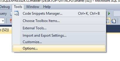 SSMS_Tools_Options