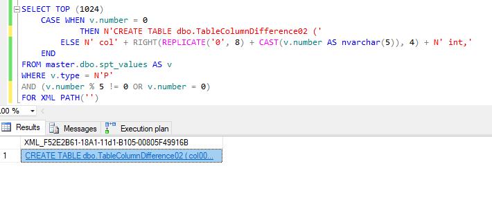 TableCreationScript