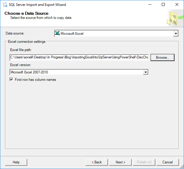 Importing Excel into SQL Server using PowerShell – No Column Name