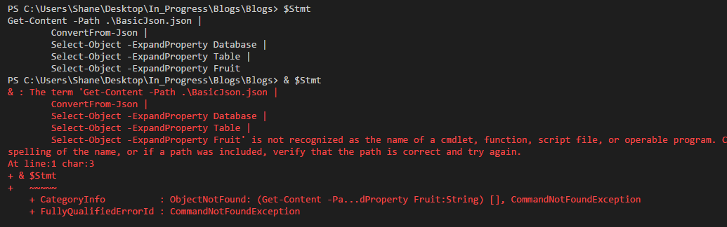 Figuring out a PowerShell version of DynamicSQL