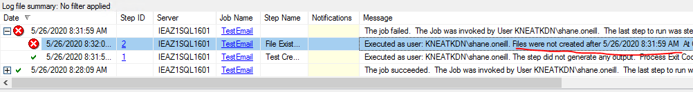 Checking Job Step Output Mid-Job using PowerShell